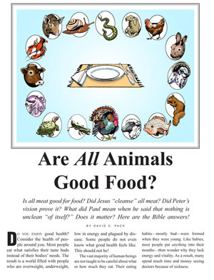 Are All Animals Good Food?