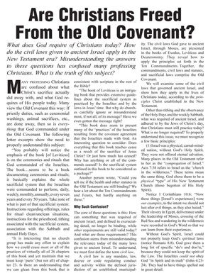 Are Christians Freed From the Old Covenant?