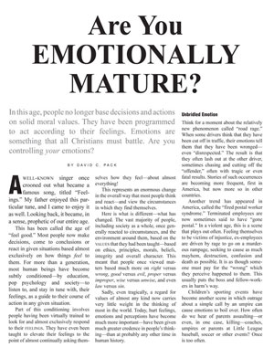 Are You Emotionally Mature?