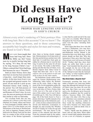 Did Jesus Have Long Hair? – Proper Hair Lengths and Styles in God's Church
