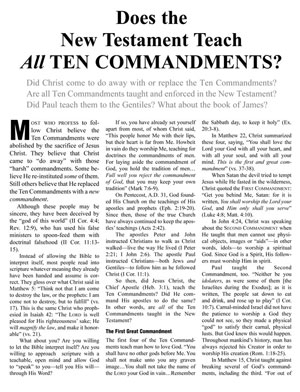 Does the New Testament Teach All Ten Commandments?