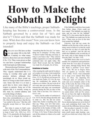 How to Make the Sabbath a Delight