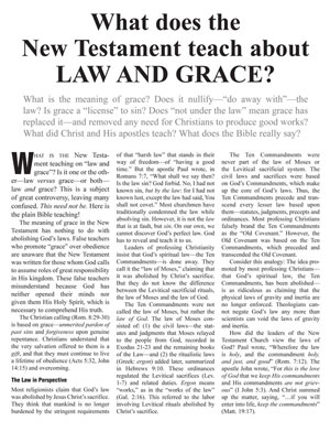What Does the New Testament Teach About Law And Grace?