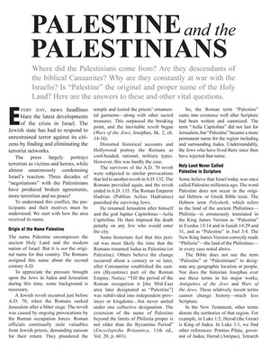Palestine and the Palestinians