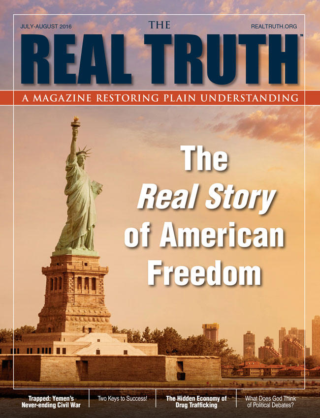 Image for Real Truth July-August 2016 – The Real Story of American Freedom