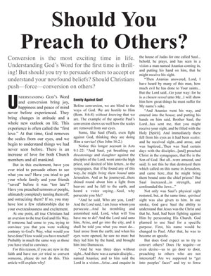 Should You Preach to Others?