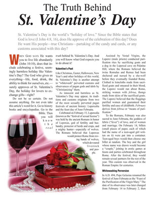 the truth behind st. valentine's day, Ideas