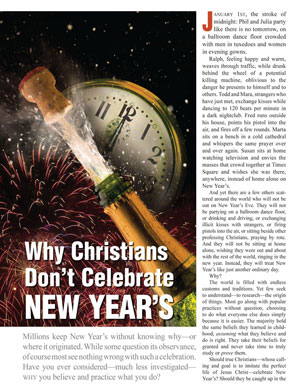 Why Christians Don't Celebrate New Year's