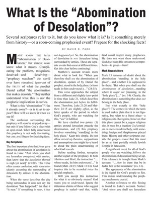 "What Is the ""Abomination of Desolation""?"