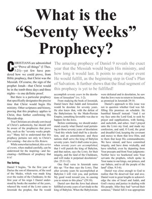 "What Is the ""Seventy Weeks"" Prophecy?"