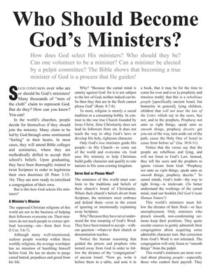 Who Should Become God's Ministers?