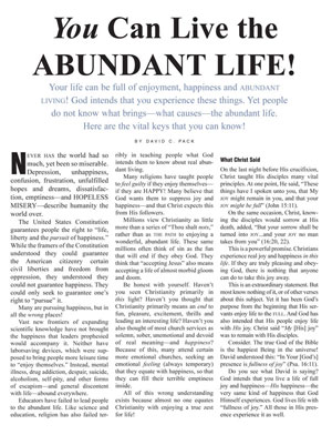 You Can Live the Abundant Life!