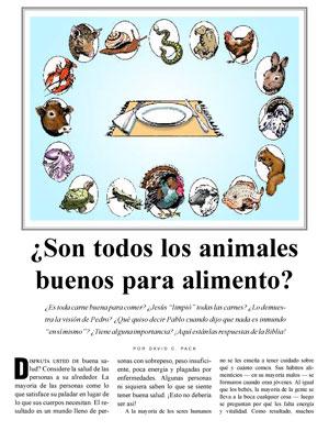 ¿Son todos los animales buenos para alimento?