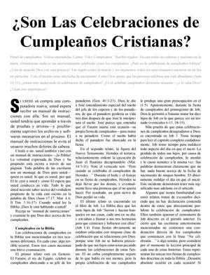 ¿Son Las Celebraciones de Cumpleaños Cristianas?