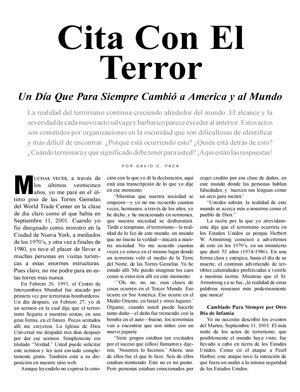 Cita Con El Terror – Un Día Que Para Siempre Cambió a America y al Mundo