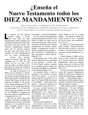 ¿Enseña el Nuevo Testamento todos los DIEZ MANDAMIENTOS?
