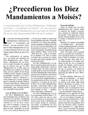 ¿Precedieron los Diez Mandamientos a Moisés?