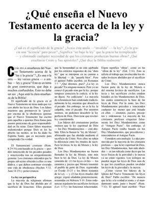 ¿Qué enseña el Nuevo Testamento acerca de la ley y la gracia?