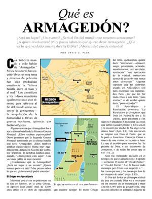 Qué es ARMAGEDÓN?