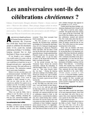 Les anniversaires sont-ils des célébrations chrétiennes ?