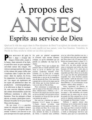 À propos des anges – Esprits au service de Dieu