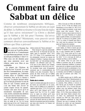 Comment faire du Sabbat un délice