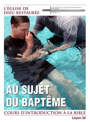 Au sujet du baptême – Leçon 20 – Cours d'introduction à la Bible