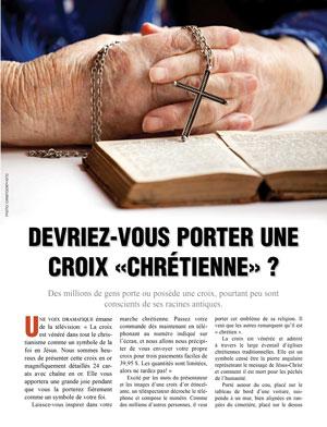 Devriez-vous porter une Croix «chrétienne» ?