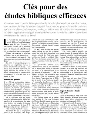 Clés pour des études bibliques efficaces