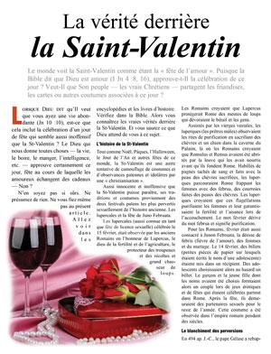 La vérité derrière la Saint-Valentin